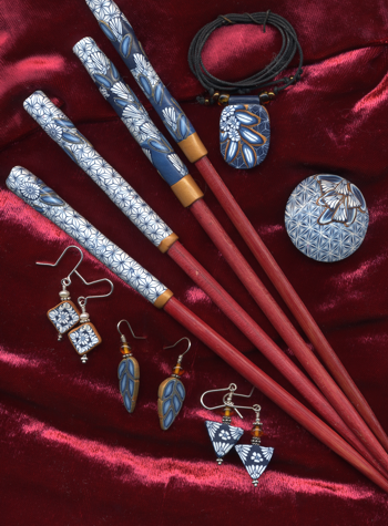 chopsticks and jewlery